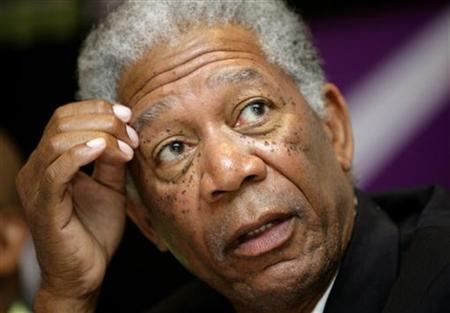 Morgan Freeman attends a news conference at the start of the Cape Town World Cinema Festival, in this file photo from November 15, 2006. Freeman and his film production company on Friday unveiled plans to make a movie starring Freeman as former South African president and Nobel laureate Nelson Mandela. REUTERS/Mike Hutchings