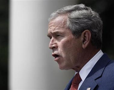 U.S. President George W. Bush makes a statement after meeting with members of Military Support Organizations at the White House in Washington, July 20, 2007. REUTERS/Jason Reed