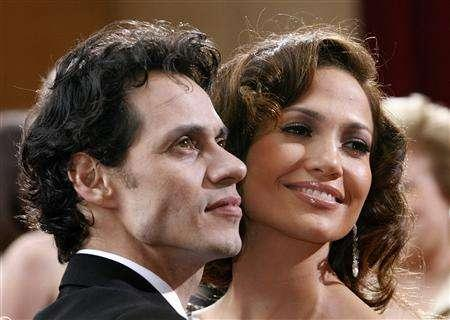 Actress, presenter Jennifer Lopez and her husband singer Marc Anthony arrive at the 79th Annual Academy Awards in Hollywood, California, February 25, 2007 file photo. They've acted in films together and collaborated on each other's albums, and now Anthony and Lopez are mulling a combined tour. REUTERS/Mario Anzuoni