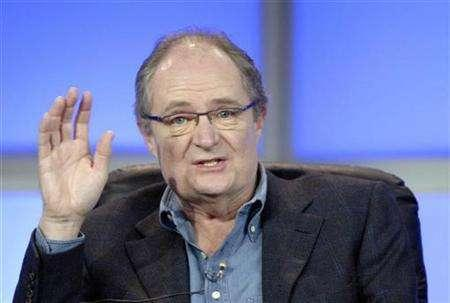 In this file photo, actor Jim Broadbent answers questions during the panel for the HBO film ''Longford'' at the Television Critics Association 2007 winter press tour in Pasadena, California, January 12, 2007. Jim Broadbent and Miranda Richardson have joined Emily Blunt in a Martin Scorsese-produced drama about Queen Victoria. REUTERS/Phil McCarten