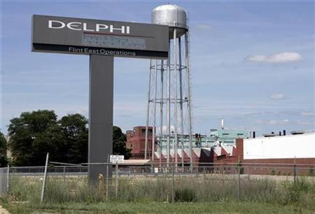 The Delphi Flint East assembly plant is seen in Flint, Michigan June 22, 2007. Investors who specialize in distressed assets are taking a page from the private equity playbook in their pursuit of bankrupt companies like auto parts maker Delphi Corp. and power producer Calpine Corp. REUTERS/Rebecca Cook