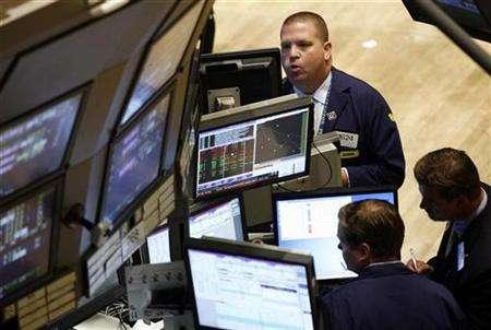 A trader works on the floor of the New York Stock Exchange in New York, August 10, 2007. REUTERS/Shannon Stapleton