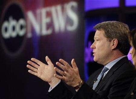 President of ABC News David Westin addresses reporters at the Television Critics Association press tour in Pasadena, California January 21, 2006. After two decades of cutbacks in international bureaus, ABC News is bucking the trend by creating one-person operations that will dramatically boost its coverage in Africa, India and elsewhere. REUTERS/Chris Pizzello