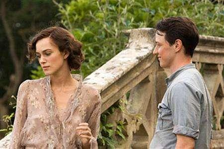 Keira Knightley and James McAvoy in a scene from ''Atonement'' in an image courtesy of Focus Features. REUTERS/Handout