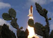 <p>La partenza del Discovery i un'immagine di archivio. REUTERS/Charles W. Luzier</p>