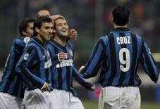 <p>La gioia dei calciatori dell'Inter. REUTERS/Alessandro Garofalo (ITALY)</p>