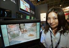 <p>Un laptop di Toshiba. REUTERS/Toshiyuki Aizawa</p>