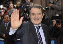 <p>Il presidente del Consiglio Romano Prodi oggi a Bruxelles. REUTERS/Ezequiel Scagnetti</p>