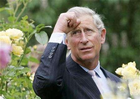 Britain's Prince Charles looks around a new eco-centre during a visit to the Roots and Shoots environmental and educational charity in south London, June 12, 2007. Prince Charles has offered to team up with Norway in projects to save forests around the world, Norwegian officials said on Thursday. REUTERS/Alastair Grant/Pool