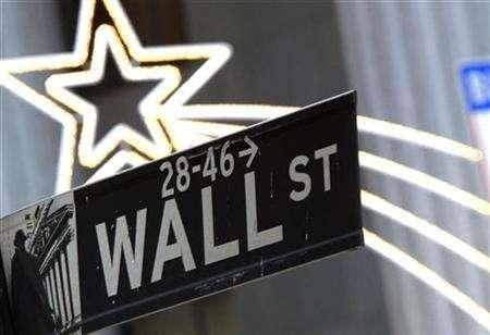 A street sign is seen on Wall Street outside the New York Stock Exchange in New York December 11, 2007. REUTERS/Brendan McDermid