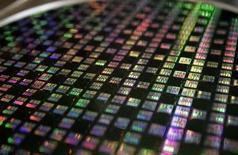<p>Le compartiment des semiconducteurs dégringole sur les marchés américains, dans le sillage du numéro un mondial du secteur Intel, qui a perdu plus de 15% de sa valeur en six séances consécutives de baisse. /Photo d'archives/REUTERS/Richard Chung</p>