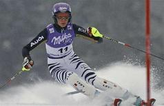 <p>Maria Riesch in una foto d'archivio. REUTERS/Petr Josek (CZECH REPUBLIC)</p>