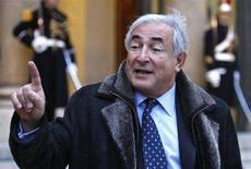 <p>Dominique Strauss-Kahn, managing director del Fondo Monetario Internazionale (IMF). La foto è stata scattata lunedì 21 gennaio a Parigi. REUTERS/Charles Platiau (FRANCE)</p>