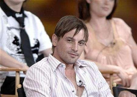 Skeet Ulrich listens to questions about the CBS production ''Jericho'' at the 2006 Summer CBS Television Critics Association press tour held in Pasadena, California July 15, 2006. Sci Fi Channel has snapped up cable rerun rights to the post-apocalyptic drama ''Jericho'' from CBS Television Distribution REUTERS/Phil McCarten
