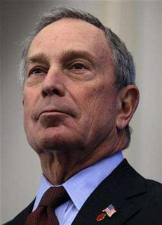 New York City Mayor Michael Bloomberg pauses during a news conference at Brackenridge Hospital in Austin, Texas, January 18, 2008. Bloomberg signed a bill on Wednesday that forces large retailers to set up plastic bag recycling programs as part of the city's efforts to improve its environmental record. REUTERS/Jessica Rinaldi