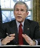 <p>Il presidente Usa George W. Bush. REUTERS/Jim Young (UNITED STATES)</p>