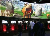 """<p>Un personaggio del videogioco """"Spore"""" di Electronic Arts. REUTERS/Sam Mircovich</p>"""