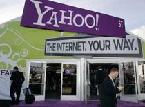 <p>Yahoo pourrait étudier une alliance professionnelle avec son concurrent Google comme possible moyen de défense face à l'offre lancée sur lui par Microsoft. /Photo prise le 8 janvier 2008/REUTERS/Steve Marcus</p>