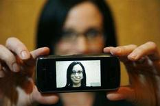 <p>Un videotelefono della LG Electronics. REUTERS/Rick Wilking</p>