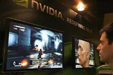<p>Immagine d'archivio di giochi per computer in uno stand di Nvidia durante una fiera dell'elettronica a Taipei. REUTERS/ Nir Elias (TAIWAN)</p>