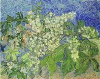 """<p>Uno dei due quadri ritrovati, """"Castagno in fiore"""" di Vincent van Gogh. REUTERS/Handout (SWITZERLAND)</p>"""