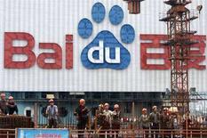 <p>Una pubblicità del motore di ricerca cinese Baidu.com, a Shanghai. REUTERS/Nir Elias (CHINA)</p>