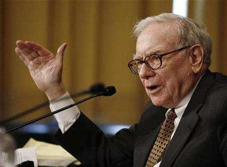 Warren Buffett, chairman and CEO of Berkshire Hathaway, speaks during a hearing about ''Federal Estate Tax: Uncertainty in Planning Under the Current Law'' on Capitol Hill in Washington, November 14, 2007. Buffett on Monday said the U.S. economy is in recession and that ''stocks are not cheap.'' REUTERS/Jason Reed