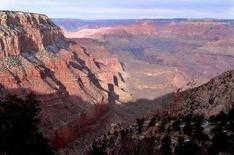 <p>Il Grand Canyon in una foto del 3 gennaio 2008. REUTERS/Rickey Rogers/Files</p>