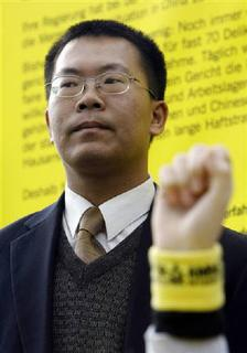 Chinese human rights activist Teng Biao is seen in Berlin in this December 7, 2007 file photo. REUTERS/Johannes Eisele