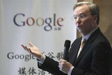 <p>L'ad di Google Eric Schmidt. REUTERS/Grace Liang</p>