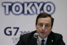 <p>Il governatore della Banca d'Italia Mario Draghi a Tokyo il 9 febbraio 2008. REUTERS/Yuriko Nakao</p>