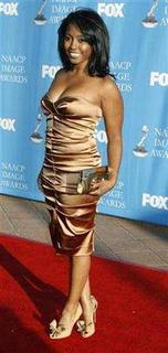 Actress Keshia Knight Pulliam, who starred as Rudy Huxtable in the 1980's television series ''The Cosby Show'', poses at the 39th Annual NAACP Image Awards in Los Angeles, California February 14, 2008. REUTERS/Fred Prouser