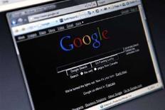 """<p>La pagina iniziale di Google che è stata presentata in versione """"nera"""" in occasione del giorno della Terra a fine marzo. REUTERS/Mark Blinch (CANADA)</p>"""