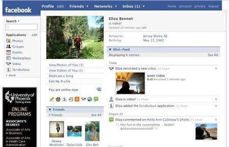A sample Facebook profile is seen in an undtaed handout image. REUTERS/Facebook/Handout