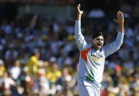 File photo of India's Harbhajan Singh  at the Sydney Cricket Ground March 2, 2008. The Indian cricket  board banned off-spinner Singh for five one-day internationals on Wednesday for a slapping incident involving Shanthakumaran Sreesanth during a domestic Twenty20 league match last month. REUTERS/Tim Wimborne/Files