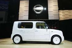 <p>La concept auto Denki Cube di Nissan all'International Auto Show di New York. REUTERS/Lucas Jackson (UNITED STATES)</p>