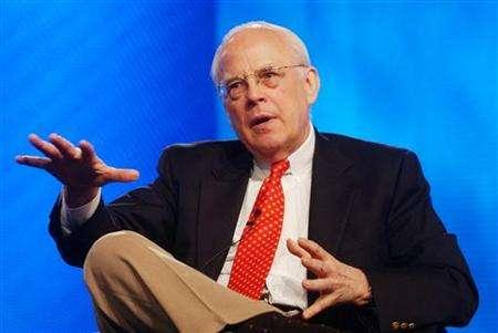 John Dean, former White House counsel to Richard Nixon, speaks with reporters during the