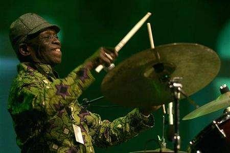 Tony Allen performs at the Mawazine Festival in Rabat, Morocco, May 17, 2008. REUTERS/Rafael Marchante