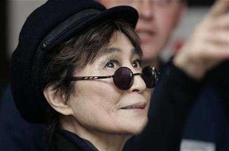 File photo shows Artist Yoko Ono during a visit to Alder Hey hospital in Liverpool, northern England May 25, 2007. Ono, on Monday lost a battle to block the use of the song ''Imagine'' in the documentary ''Expelled: No Intelligence allowed.'' REUTERS/Nigel Roddis
