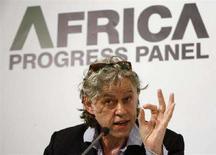 <p>Il musicista irlandese Bob Geldof alla presentazione di Africa Progress Panel REUTERS/Arnd Wiegmann</p>