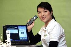 <p>Immagine d'archivio di un apparecchio telefonico Skype. REUTERS/Richard Chung (TAIWAN)</p>