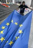 <p>Una bandiera Ue. REUTERS PICTURE</p>