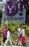 <p>Microsoft a repris les discussions en vue d'un rachat de Yahoo, d'après le site internet spécialisé dans les hautes technologies TechCrunch, qui cite de multiples sources non identifiées au sein des deux groupes. /Photo prise le 19 mai 2008/REUTERS/Lucy Nicholson</p>