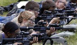 <p>Un momento delle esercitazioni a West Point REUTERS/Mike Segar</p>