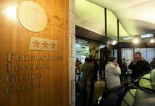 <p>Sede della Federazione Italiana Gioco Calcio (Figc) di Roma. REUTERS/Max Rossi</p>
