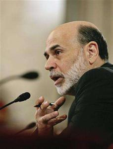Chairman of the Federal Reserve Ben Bernanke reports his Monetary Policy Report before the Senate Banking Committee on Capitol Hill in Washington, July 15, 2008. REUTERS/Larry Downing