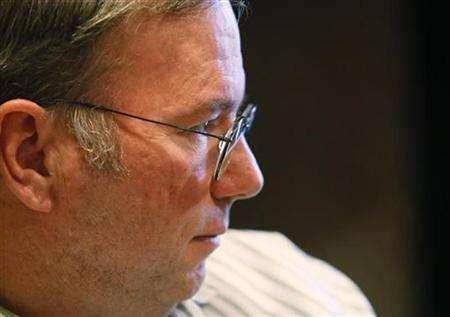 Google Inc Chief Executive Eric Schmidt speaks during an interview with at the 26th annual Allen & Co conference in Sun Valley, Idaho, July 10, 2008. REUTERS/Rick Wilking