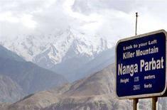 <p>La cima del Nanga Parbat, detta la montagna killer, in Pakistan. REUTERS/Faisal Mahmood</p>