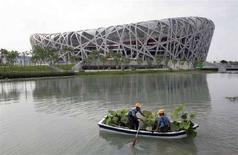 """<p>Lo stadio """"Nido d'uccello"""" di Pechino REUTERS/Reinhard Krause</p>"""