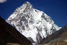 <p>Una immagine d'archivio del K2. EDITORIAL USE ONLY REUTERS/Pakistan Toursim Office/Handout</p>
